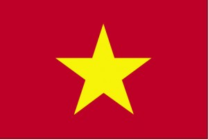 The flag of the Socialist Republic of Vietnam with a single gold star on a red field.